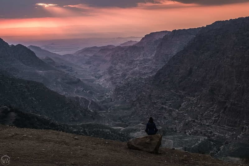 View of a valley at Dana Bioreserve Jordan
