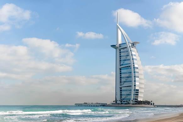 Burj Al Arab 7 star hotel in Jumeirah Dubai